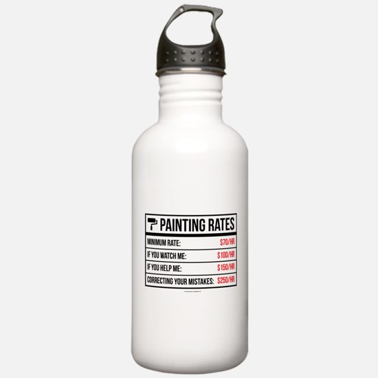 Funny Painting Rates Water Bottle