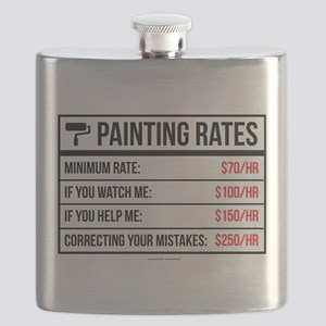 Funny Painting Rates Flask