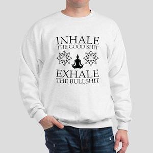 Yoga: Inhale the good shit Jumper