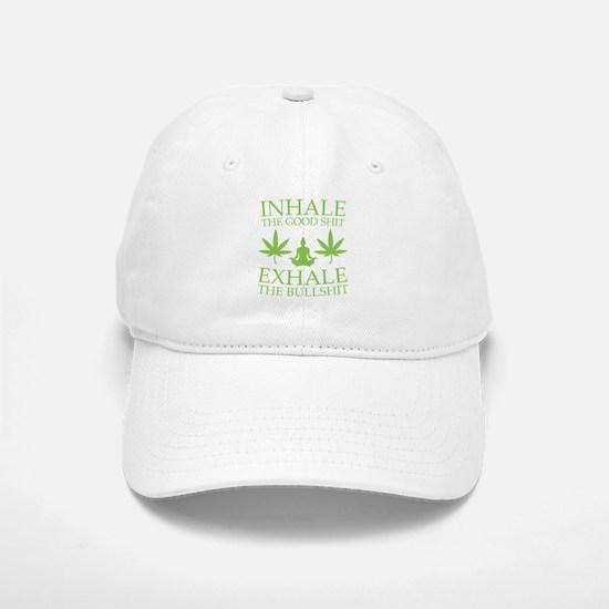Yoga: Inhale the good shit Baseball Baseball Cap
