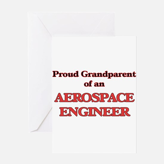 Proud Grandparent of a Aerospace En Greeting Cards