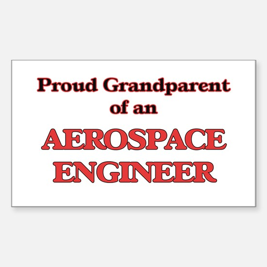 Proud Grandparent of a Aerospace Engineer Decal