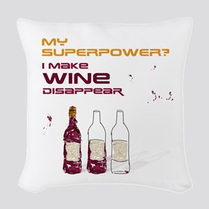 Funny Wine Quote Woven Throw Pillow