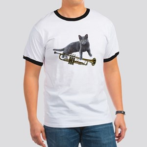 Cat with Trumpet T-Shirt