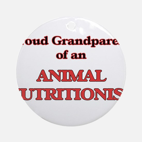 Proud Grandparent of a Animal Nutri Round Ornament