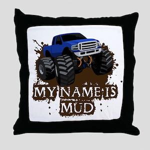 MUD TRUCK-01 Throw Pillow