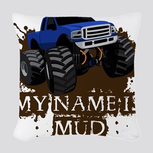 MUD TRUCK-01 Woven Throw Pillow