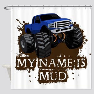 MUD TRUCK-01 Shower Curtain