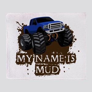 MUD TRUCK-01 Throw Blanket