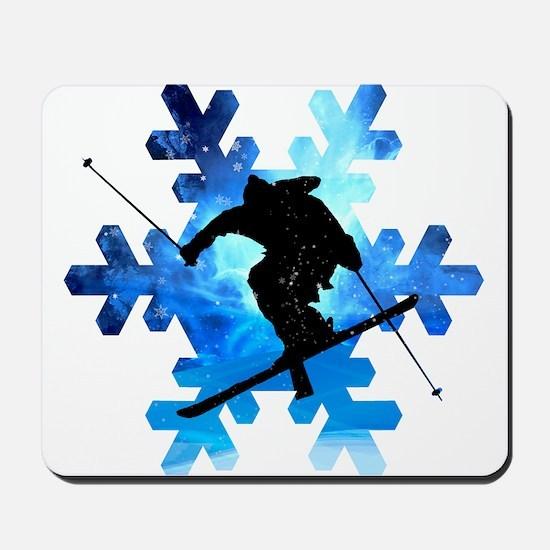 Winter Landscape Freestyle skier in Snow Mousepad