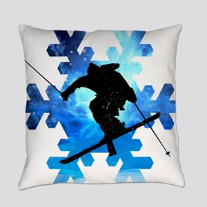 Winter Landscape Freestyle skier i Everyday Pillow