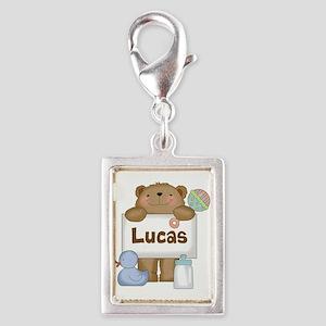 Lucas's Silver Portrait Charm