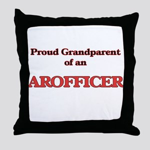 Proud Grandparent of a Arofficer Throw Pillow