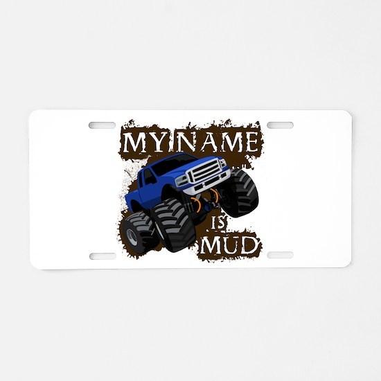 Monster trucks Aluminum License Plate