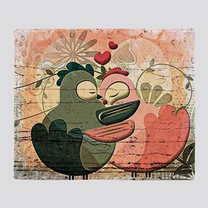 Love Birds illustration Throw Blanket