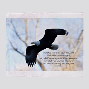 Isaiah 40:31 Eagle Soaring Throw Blanket