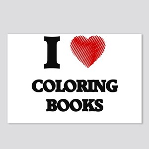 Coloring Book Postcards (Package of 8)