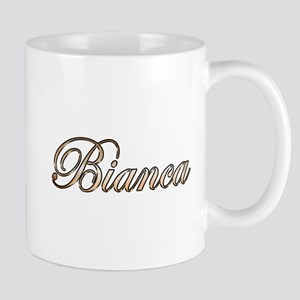 Gold Bianca Mugs
