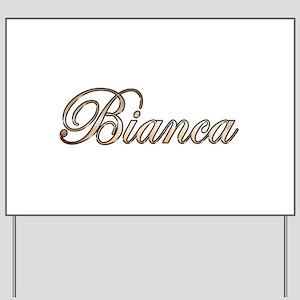 Gold Bianca Yard Sign