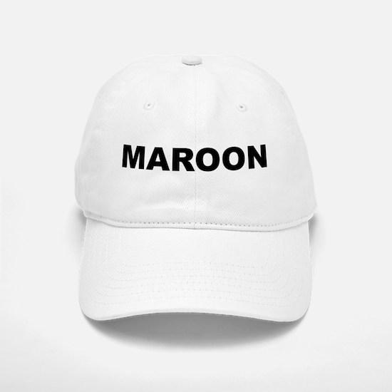 Maroon Baseball Baseball Cap