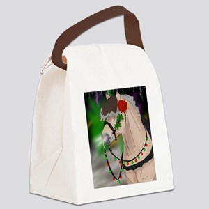 Christmas Fjord Stallion Canvas Lunch Bag