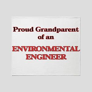 Proud Grandparent of a Environmental Throw Blanket