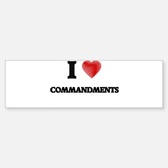 commandment Bumper Bumper Bumper Sticker