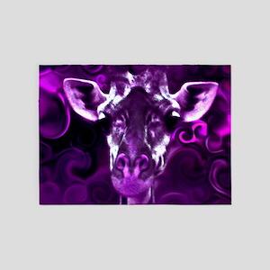 Closeup Purple 5'x7'Area Rug