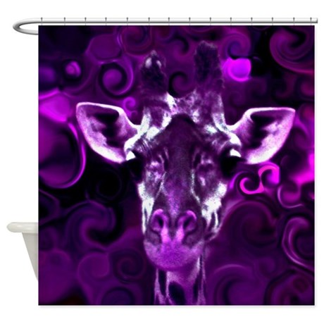 Closeup Purple Shower Curtain
