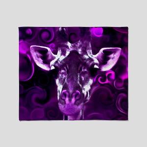 Closeup Purple Throw Blanket