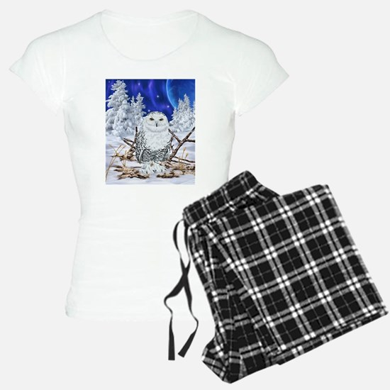 Snowy Owl Digital Art Pajamas