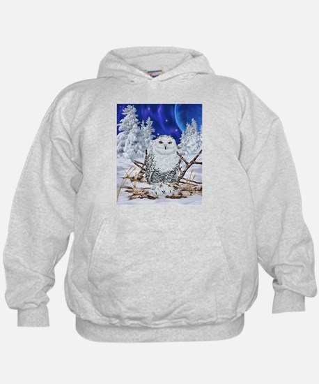 Snowy Owl Digital Art Hoody