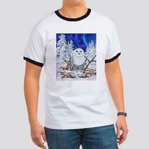 Snowy Owl Digital Art T-Shirt