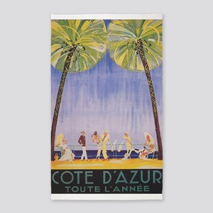Cote d' Azur, France; Vintage Travel Poster Area R