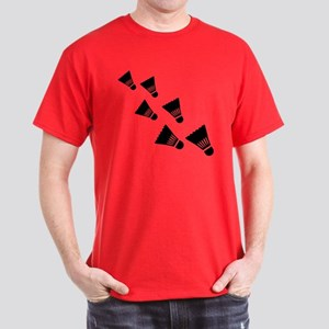 Badminton Shuttlecocks Dark T-Shirt