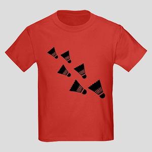 Badminton Shuttlecocks Kids Dark T-Shirt