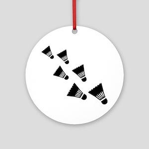 Badminton Shuttlecocks Round Ornament
