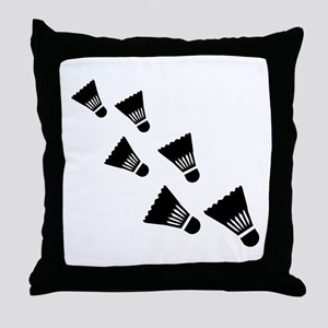 Badminton Shuttlecocks Throw Pillow