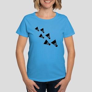 Badminton Shuttlecocks Women's Dark T-Shirt