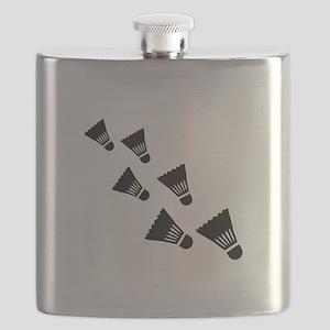 Badminton Shuttlecocks Flask