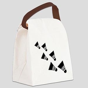 Badminton Shuttlecocks Canvas Lunch Bag