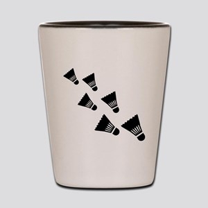 Badminton Shuttlecocks Shot Glass