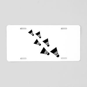 Badminton Shuttlecocks Aluminum License Plate