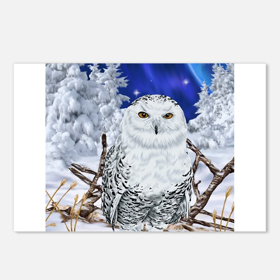 Snowy Owl Digital Art Postcards (Package of 8)