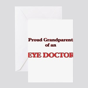 Proud Grandparent of a Eye Doctor Greeting Cards