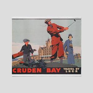 Cruden Bay, Aberdeen, Scotland , Gol Throw Blanket