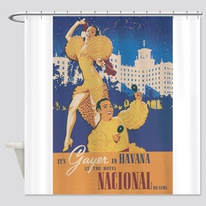 Havana, Cuba; Cuban Entertainers; V Shower Curtain