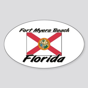 Fort Myers Beach Florida Oval Sticker