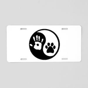Yin Yang Hand & Paw Aluminum License Plate