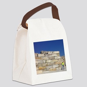 Block Wall Canvas Lunch Bag